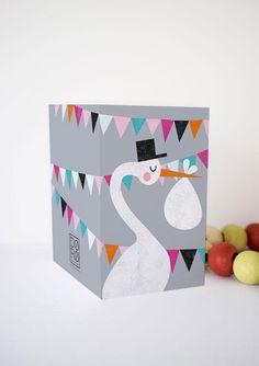 Baby & Geburt - Glückwunschkarte zur Geburt - ein Designerstück von Doro-Illustrations bei DaWanda