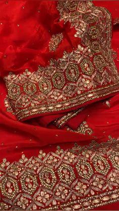 Indian Bridal Makeup, Indian Bridal Outfits, Indian Bridal Fashion, Pakistani Bridal Dresses, Pakistani Dress Design, Indian Dresses, Pakistani Outfits, Indian Embroidery, Embroidery Fashion