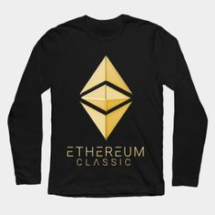 Ethereum Classic Simple (gold) long-sleeve t-shirt designed by András Balogh