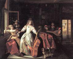 """""""A Musical Conversation"""" by Pieter de Hooch."""