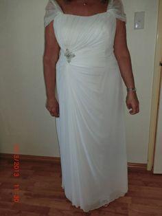 Elegant Older Bride - I added silk organza straps - sleeves for softness