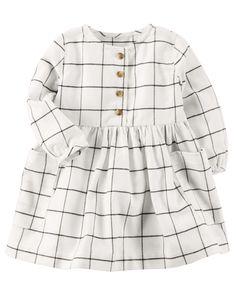 Baby Girl Woven Checkered Dress | Carters.com