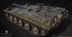 UDES 03 - Swedish tank destroyer model for World of Tanks. Developed in the early by the UDES research group, Bofors and Hägglunds companies. Tank Destroyer, World Of Tanks, Military Vehicles, Weapons, Guns, Animation, Artwork, Weapons Guns, Weapons Guns