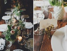 Gold painted animals in a rustic French-inspired theme wedding.