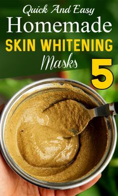 5 Quick And Easy Homemade Skin Whitening Masks - Care - Skin care , beauty ideas and skin care tips Beauty Tips For Skin, Natural Beauty Tips, Natural Skin Care, Beauty Skin, Beauty Hacks, Diy Beauty, Face Beauty, Healthy Beauty, Skin Tips