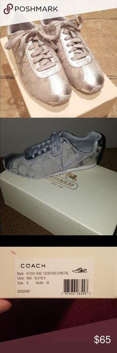 Brand new coach tennis shoes Brand new silver coach tennis shoes Coach Shoes Sneakers