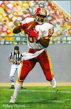 Goal Line Art - Redskins Redskins Football, Redskins Fans, Football Art, Football Helmets, Football Players, Syracuse Football, Vintage Football, Alabama Football, College Football