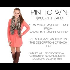 PIN to WIN! »> www.hazelandolive.com