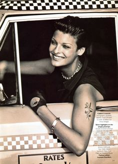 "Vogue UK September 1992 ""Culture Clash"" Photographer: Peter Lindbergh Fashion Editor: Lucinda Chambers Hair: Guido Make-up: Stephane Marais Model: Linda Evangelista"