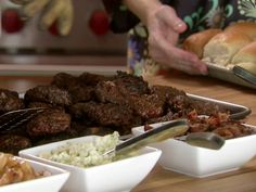 Pioneer Woman's Sliders from FoodNetwork.com. Use a 2-oz ice scream scoop to measure out each patty. These would be great for game day or a barbeque.