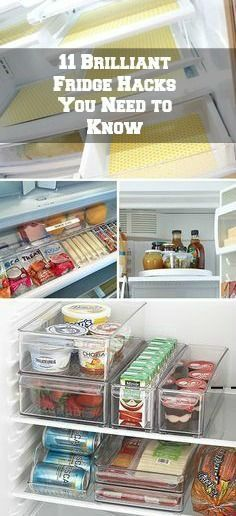 Brilliant Fridge Hacks You Need to Know! You won't believe how this simple organisation hack can change your Brilliant Fridge Hacks You Need to Know! You won't believe how this simple organisation hack can change your life! Fridge Organization, Organisation Hacks, Organising Hacks, Organizing Your Home, Kitchen Storage, Kitchen Racks, Kitchen Tips, Kitchen Ideas, Kitchen Decor