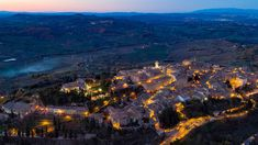Another picture of Montepulciano (SI) by night. Aerial photo by Max Morriconi.