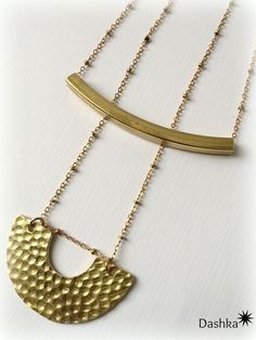 Dashka Raw Brass Layering Necklaces $28 each.