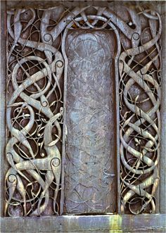 Carved Door at Urnes Stave Church, Norway - 1130 - UNESCO World Heritage Site