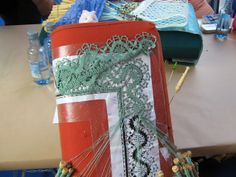 Cluny bobbin lace in process Lace Pillows, Bobbin Lacemaking, Lace Making, Jewels, Lace, Bobbin Lace, Crochet Lace, Lace Knitting