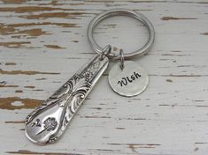 Spoon handle key chain wish dandelion by WhisperingMetalworks
