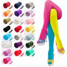 Autumn Winter OPAQUE 80D PANTYHOSE Stockings Tights 25 Candy Colors #NewBrand #Pantyhose