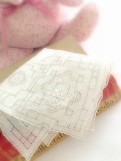 White Wedding Handkerchief  Bridal Hankie by LollysCubbyHole