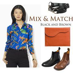 Mix & Match Equestrian Black & Brown