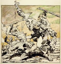 by Bernie Wrightson Comic Book Pages, Comic Book Artists, Comic Artist, Comic Books Art, Vampire Illustration, Illustration Art, Bernie Wrightson, Classic Monsters, Horror Comics