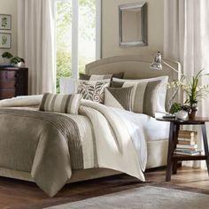 Amherst Natural Comforter Set 7-Piece Set - BedBathandBeyond.com