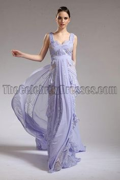MILA KUNIS 2011 Oscar Lavender Prom Dress Red Carpet Celebrity Gown Zoom · alt
