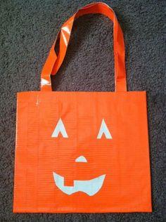 Orange Duct Tape Trick-or-Treat Bag. #ducttape