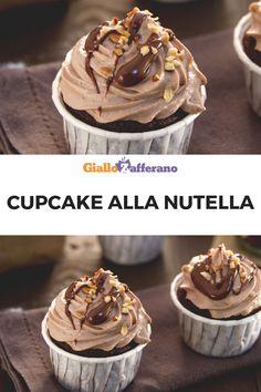 Cupcake alla Nutella: i celebri dolcetti americani incontrano il gusto unico della crema di nocciole più amata. Perfetti per merenda o per arricchire le tue feste! #cupcake #nutella #muffin #cioccolato #chocolate #tortino #torta #cake #sweet #dessert #dolce #easy #recipe #ricetta #facile #veloce #merenda #giallozafferano [Easy Nutella cupcake recipe] Cake Mix Cupcakes, Cupcake Cake Designs, Fondant Cupcakes, Cupcake Recipes From Scratch, Easy Cupcake Recipes, Dessert Recipes, Cup Cake Nutella, Nutella Cupcakes, Lemon Raspberry Muffins