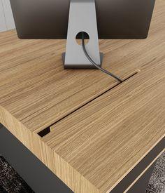 OS1 executive desk on Behance Office Table Design, Home Office Setup, Desk Setup, Home Office Space, Office Interior Design, Office Interiors, Furniture Projects, Diy Furniture, Furniture Design