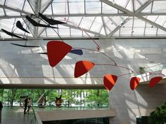 Alexander Calder's 920-pound, 76-foot-long mobile, the icon of the National Gallery's East Building, has gracefully presided over its central court since 1977. In 1972, when the East Building was still under construction, Calder was asked to create a large mobile that would visually anchor the structure's monumental atrium. Originally planned in steel, the sculpture's thirteen panels and twelve arms were too heavy to function as the artist intended. Paul Matisse translated the design into an…