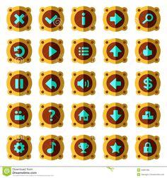 steam-punk-flat-game-buttons-vector-set-43661385.jpg (1300×1390)