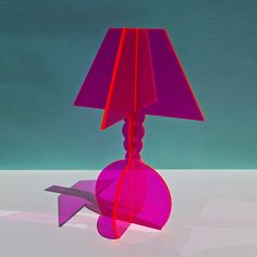 Acrylic Lamp Sculpture / Glows in light – Brightecture Pink Lamp, Neon Lamp, Interior Plants, Decor Interior Design, Interior Trim, Neon Home Decor, 3d Laser Printer, Acrylic Furniture, Neon Furniture