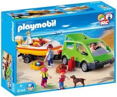 Playmobil Family Van Set by Playmobil. $89.95. Playmobil Family Van - Limited Edition 4144. Boat can be upgraded with the underwater motor and car can be powered by adding the RC compact module #4320.