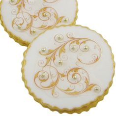 Fancy Filigree Cookies How-To, Make Beautifully Detailed Filigree Edible Wafer Paper Cookies    http://www.fancyflours.com/product/fancy-filigree-cookies-how-to/Wedding_Themed_Recipes