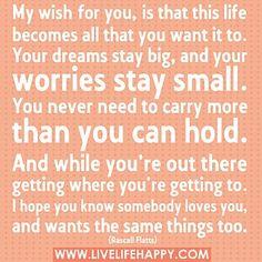My wish ..... Rascal Flatts