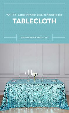 Your tables are sure to look their best when you decorate with round sequined table linens! Add an extra touch of elegance to your party decorations. #tablecloths #tablesettings