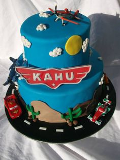 Cars and Planes Cake.