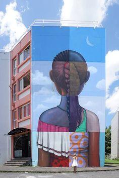 Seth, île de la Réunion. Her back to me #streetart