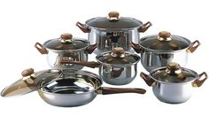 Gourmet Chef 12 Stainless Steel Piece Cookware Set