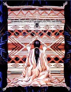 Spider Woman Origin: Hopi mythology In one version of the story, Spider woman, or Spider Grandmother, weaves existence together like the strands of a web. At the beginning of things, Spider Woman. Native American Mythology, Native American Tribes, Sacred Feminine, Divine Feminine, Spider Queen, Divine Mother, Medicine Wheel, Animal Totems, Jolie Photo