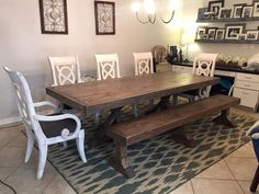 Old World Black 7ft. Farmhouse Table With 6 Weave Back Farmhouse Chairs  Custom Built By Urban Chic Decor. Click The Image To Find More Home Decor U2026