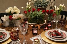 Friendship, Life and Style: Valentine's Tablescape for Two