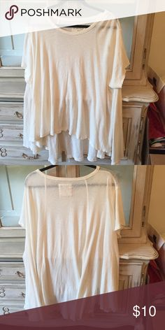 Free people twirl tee Chic simple off white tee from free people size M/L Free People Tops Tees - Short Sleeve