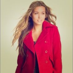 Surf brand Lost Enterprises red peacoat Lost surf brand small red peacoat. Only worn a couple of times. Super cute and great condition! Lost Jackets & Coats