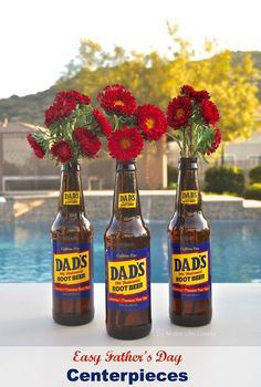 Easy Father's Day Centerpieces