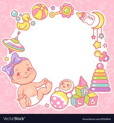 Square frame with cute little baby boy sitting, wear diaper. Kid's toys, elements and objects. Baby shower cards for boy. Baby Photo Frames, Baby Frame, Little Baby Girl, Little Babies, Baby Shower Cards, Baby Shower Parties, New Year Symbols, New Baby Photos, Image New