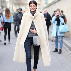 """@leeoliveria - """"Street Style Paris Fashion Week... Giovanna Battaglia. You can check out more of my shots from Paris on @STYLEBOP.com #pfw ..."""""""