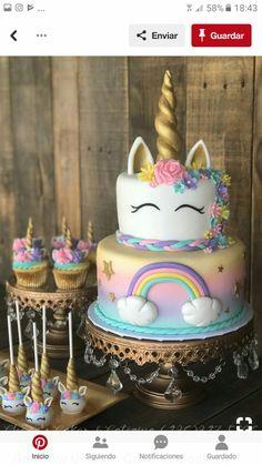 Birthday parties 294563631876434053 - Rainbow Unicorn Cake, Unicorn Cupcakes, Unicorn Cake Pops & Unicorn Cookies Source by gabouvigou Unicorn Cake Pops, Unicorn Cookies, Diy Unicorn Cake, Unicorn Cake Images, Black Unicorn Cake, Unicorn Cake Design, Unicorn Shirt, Unicorn Themed Birthday Party, Cake Birthday