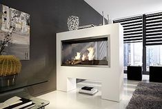 Modern Home Interior Design Ideas In White Black And Grey Nuance Overlooking With Winter Fireplace Built In White Room Divider. Interior: The Simple Classic Fireplace Design Ideas. [Leetto] House Design Plus Interior Inspiration Magazine Room Divider Bookcase, Fabric Room Dividers, Bamboo Room Divider, Room Divider Walls, Living Room Divider, Hanging Room Dividers, Folding Room Dividers, Office Room Dividers, Temporary Room Dividers