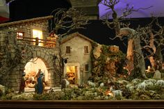 Click to Close Christmas Nativity Scene, Christmas Villages, Fairy Houses, Cribs, Amy, Miniatures, Architecture, Garden, Inspiration
